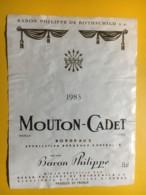 9101 - Mouton-Cadet 1983 Baron Philippe De Rothschild - Bordeaux