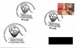 SPAIN. POSTMARK HOLY CHRIST RECUMBENT. BENAVIDES DE ORBIGO. 2018 - Marcofilia - EMA ( Maquina De Huellas A Franquear)