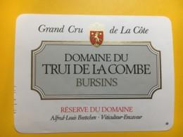 9102 - Domaine Du Trui De La Combe Bursins Alfred-Louis Beetschen Suisse2 étiquettes - Etiquettes