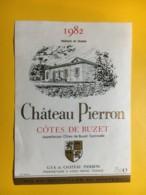 9105 - Château Pierron 1982 Côtes De Buzet - Etiketten