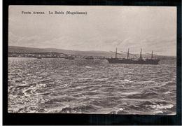CHILE Punta Arenas La Bahia Ca 1910 OLD POSTCARD 2 Scans - Cile