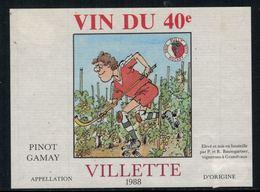Rare // Etiquette De Vin // Roller // Pinot-Gamay , Rink Hockey Club Pully, Vin Du 40e - Etiquettes