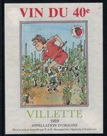 Rare // Etiquette De Vin // Roller // Villette , Rink Hockey Club Pully, Vin Du 40e - Etiquettes