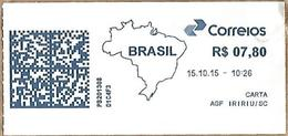 LSJP BRAZIL FRANK FRAGMENT IRIRIU SANTA CATARINA 2015 - Brazil
