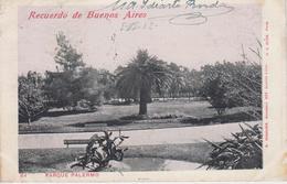 CPA Précurseur Recuerdo De Buenos Aires - Parque Palermo - Argentine