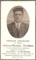DP. JULIANUS DEVILDERE ° OOSTENDE 1905 - + VERONGELUKT DOOR AUTO-ONGEVAL 1936 - Religion & Esotérisme
