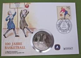 Numisbrief 1991 Mit Münze Sporthilfe Basketball 5 Dollars NIUE - Niue