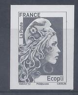 MARIANNE L'ENGAGEE - TIMBRE ECOPLI - NON DENTELE - SALON AUTOMNE 2018 - 2018-... Marianne L'Engagée