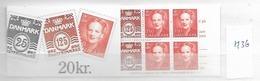 1991 MNH Danmark, Booklet Postoffice Nr H36 - Carnets