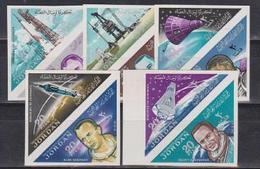Jordan, Spaceman, 1964, 10 Stamps Imperforated - Space