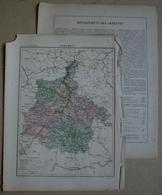 Dpt- 08 Joanne 1870 30x38 Ardennes Mezieres Rethel Rocroi Sedan Charleville Vouziers Rancourt Fumay Buzancy Montherme - Cartes