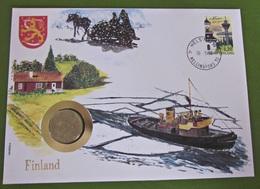 Numisbrief Finland 1986 Münze Briefmarke - Finlande