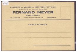 ST IMIER - FERNAND MEYER - FABRICANT DE VERRES DE MONTRES - HORLOGERIE - TB - BE Berne