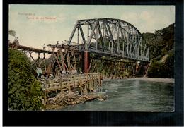 Costa Rica  Puntarenas Puente De La Barranca Building Of Railway Bridge Ca 1915 OLD POSTCARD 2 Scans - Costa Rica