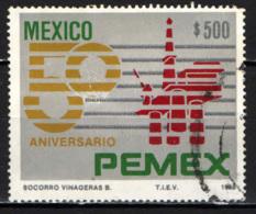 MESSICO - 1988 - NAZIONALIZZAZIONE DEL PETROLIO - 50° ANNIVERSARIO - USATO - Messico