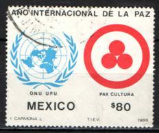 MESSICO - 1986 - ANNO INTERNAZIONALE DELLA PACE - USATO - Messico