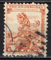 MESSICO - 1934 - MADRE CON BAMBINO - PRO UNIVERSITA'  - USATO - Messico