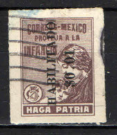 MESSICO - 1930 - PROTEZIONE DELL'INFANZIA CON SOVRASTAMPA - OVERPRINTED - USATO - Messico