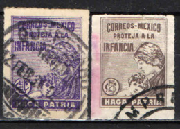 MESSICO - 1929 - PROTEZIONE DELL'INFANZIA - USATI - Messico