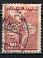 MESSICO - 1926 - MAPPA DELLE AMERICHE - USATO - Messico