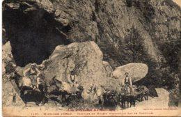 Montagnes D'ORLU - Caravane De Mulets  Montant Au Lac De Naguilles - France