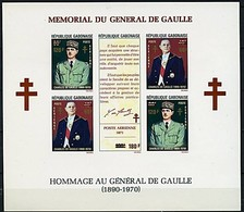 Gabon 1972 Yvertn° Bloc 20 *** MNH Cote 17,50 Euro Mémorial Hommage Au Général De Gaulle - Gabon (1960-...)