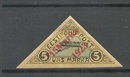 FAUX Estonia Estland 1923 Michel 42 FAKE Alter Fälschung * - Estonie
