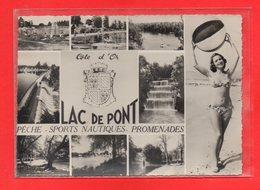 21-CPSM SEMUR EN AUXOIS - LE LAC DE PONT - Semur