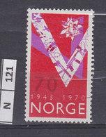 NORVEGIA   1970Anniversario Liberazione 70 Nuovo - Norvegia