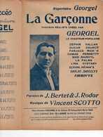 CAF CONC GEORGEL HOMOSEXUALITÉ LGBT PARTITION LA GARÇONNE RODOR SCOTTO BERTET LA PALMA RAINVYL DARCELYS LESBIENNE - Musique & Instruments