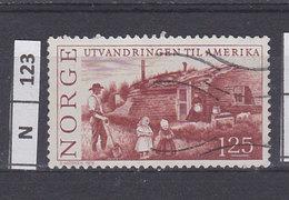 NORVEGIA   1975Emigrazione In America 1,25 Usato - Norvegia