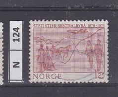 NORVEGIA   1976Ufficcio Centrale Statistica 1,25 Usato - Norvegia