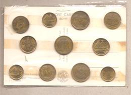 Egitto - 11 Monete Diverse + Cartolina - Souvenir Sheet - Egitto