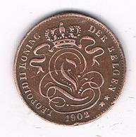 1 CENTIM 1902 VL  BELGIE /8337/ - 1865-1909: Leopold II