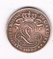 1 CENTIM 1907 VL  BELGIE /8339/ - 1865-1909: Leopold II