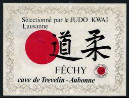 Rare // Etiquette De Vin // Judo // Féchy, Judo Kwai Lausanne - Etiquettes