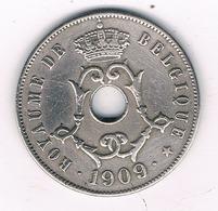 25 CENTIMES 1909 FR  BELGIE /8341/ - 1865-1909: Leopold II