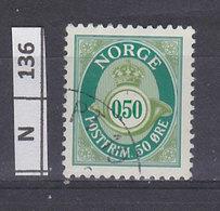 NORVEGIA   1997Ovale Con Numero 0,50 Usato - Usati