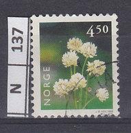 NORVEGIA   1998Fiori 4,50 Usato - Usati
