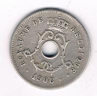 5 CENTIMES 1906 FR  BELGIE /8344/ - 1865-1909: Leopold II