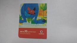 India-vodafone-mrp Card-(24a)-(rs.10)-(11/07-10/08-(jaipur)-kutti Card-used+1 Card Prepiad Free - India