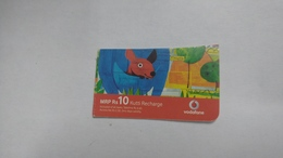 India-vodafone-mrp Card-(24b)-(rs.10)-(7/08-7/09-(jaipur)-kutti Card-used+1 Card Prepiad Free - India