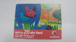 India-vodafone-mrp Card-(24c)-(rs.20)-(20/10/07-15/10/10-(jaipur)-kutti Card-used+1 Card Prepiad Free - India