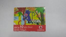 India-vodafone-mrp Card-(24d)-(rs.10)-(3/1/11-7/1/08-(jaipur)-kutti Card-used+1 Card Prepiad Free - India