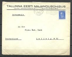 Estland Estonia 1940 Commercial Cover Firmenbrief Michel 147 As Single German Reich Censor - Estland