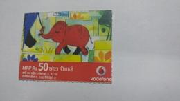 India-vodafone-mrp Card-(24g)-(rs.50)-(22/9/07--10/9/10-(jaipur)-kutti Card-used+1 Card Prepiad Free - India