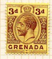 AMERIQUE CENTRALE - GRENADE - (Colonie Britannique) - 1913-21 - N° 79 - 3 P. Brun-lilas S. Jaune - (George V) - Amérique Centrale