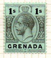 AMERIQUE CENTRALE - GRENADE - (Colonie Britannique) - 1913-21 - N° 80 - 1 S. Noir S. Vert - (George V) - Amérique Centrale