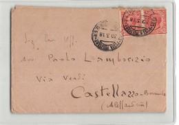 16924 - 6 REGG. GENIO 10 A COMPAGNIA FERROVIERI - POSTA MILITARE X CASTELLAZZO BORMIDA - 1900-44 Vittorio Emanuele III
