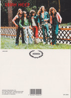 Uriah Heep Rock Band Original Postcard In Near Mint Condition, Made In England 003 - Cartes Postales